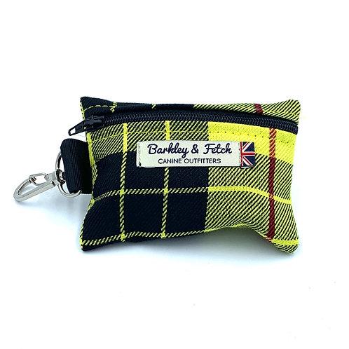Yellow Tartan Poo Bag Holder