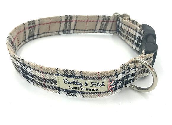 Caramel Tartan Dog Collar