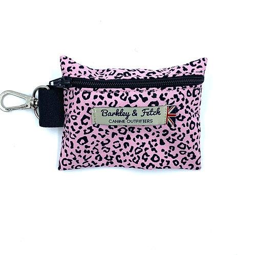 Pink Leopard Print Poo Bag Holder
