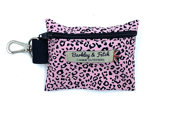 Pink Leopard Print Poo Bag Holder