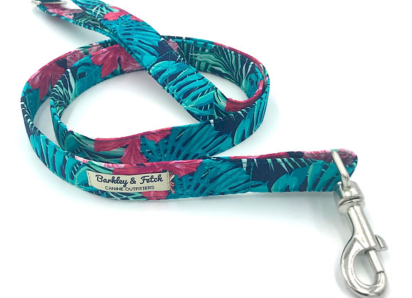 Navy Tropical Print Dog Lead