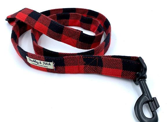 Red Lumberjack Dog Lead