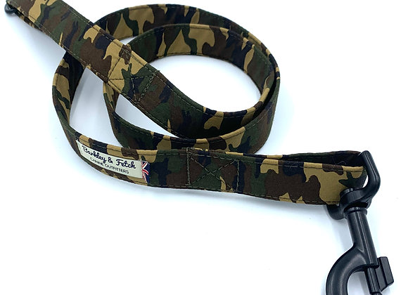 Green Camo Dog Lead