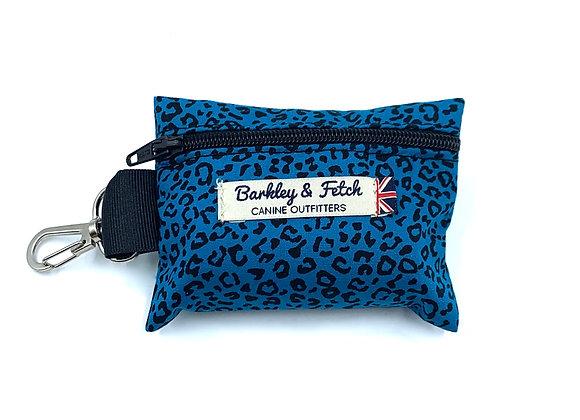 Teal Leopard Print Poo Bag Holder