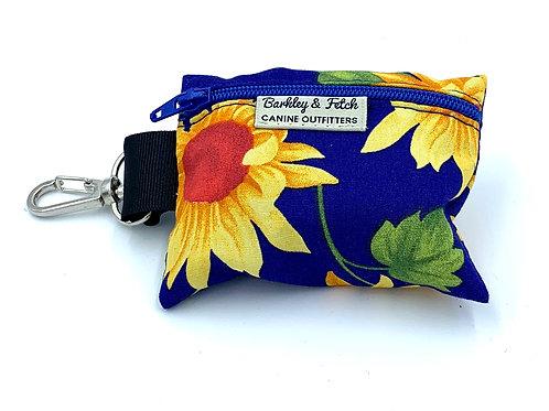 Sunflower Print Poo Bag Holder