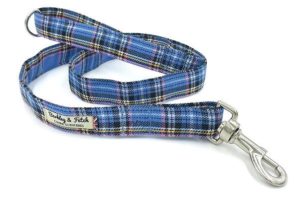 Blue Tartan Dog Lead