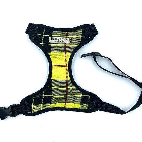 Yellow Tartan  Dog Harness