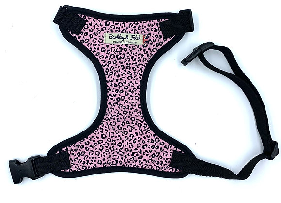 Pink Leopard Print  Dog Harness