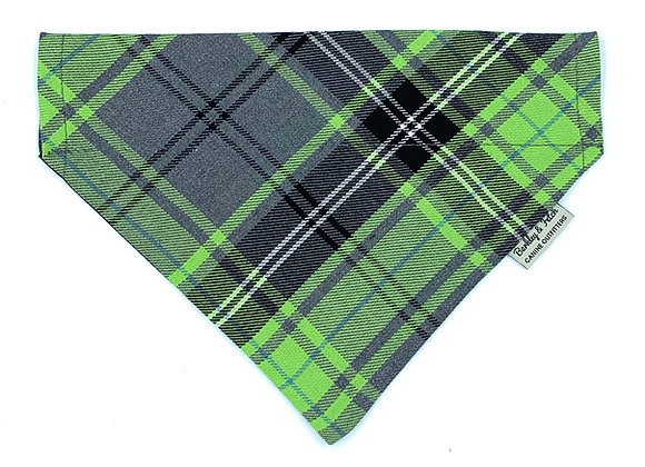 Green and Grey Tartan Dog Bandana