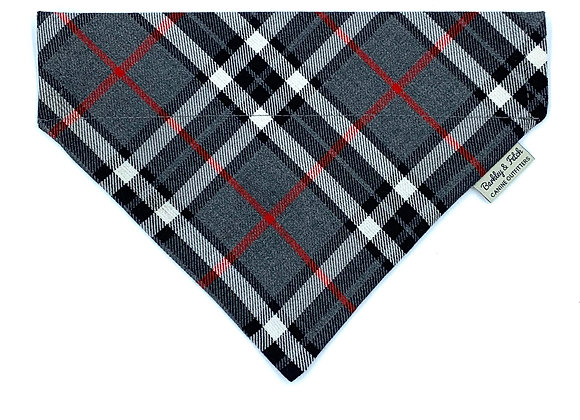 Grey/White Tartan Dog Bandana