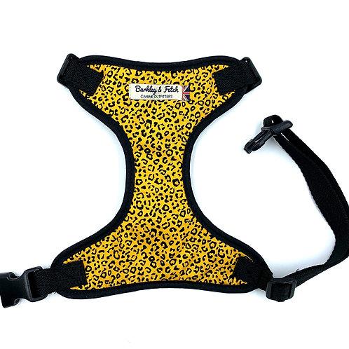 Ochre Leopard Print  Dog Harness