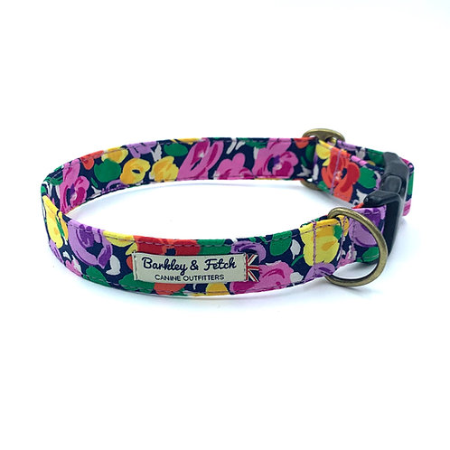 Bright Floral Print Dog Collar
