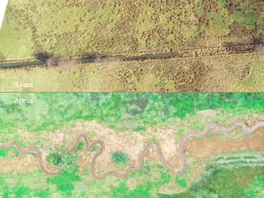 Avant-----------> Après (images aériennes)