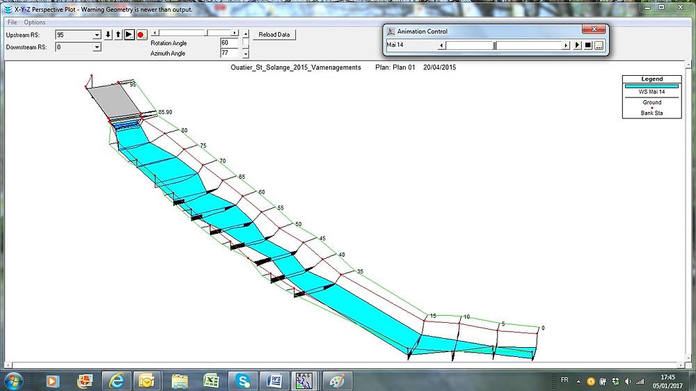 Modélisation hydraulique : état final