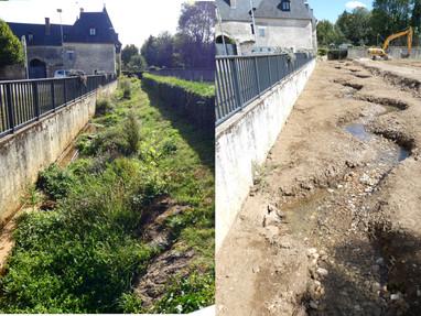 Finalisation de la restauration du premier segment et démarrage du deuxième sur l'Auxigny à Sain