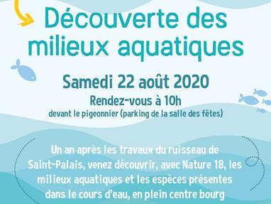 À la découverte des travaux de restauration 2019 à Saint-Palais, animations de juillet & août