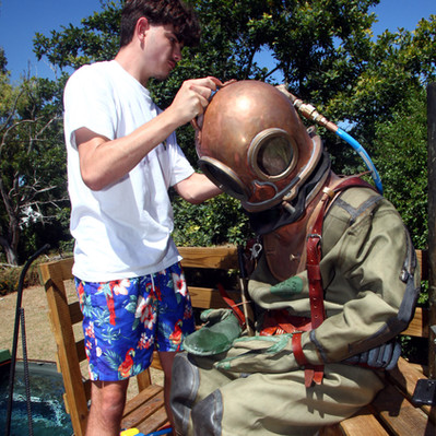 Dress-in for Brass Helmet Dive