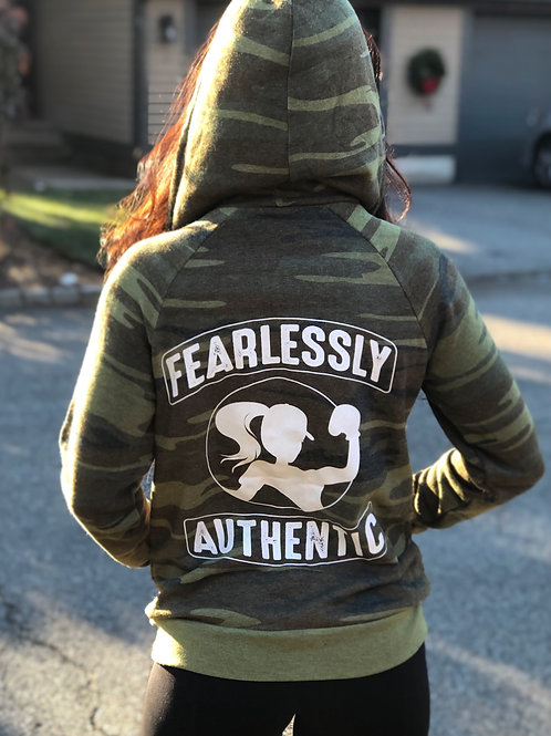 Fearlessly Authentic Zip-Up Hoodie - Hoodie