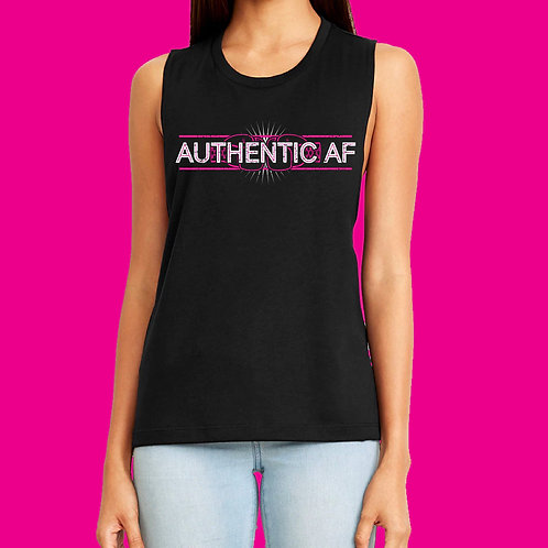 #AuthenticAF Muscle Tank - Black