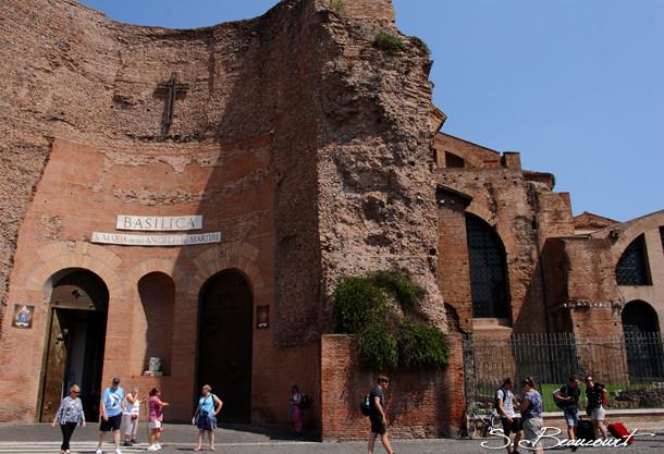 L'église Santa Maria degli angeli à Rome