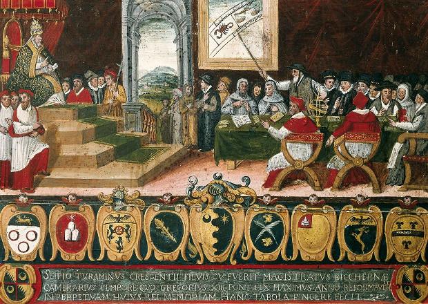 La commision de réforme du calendrier devant le pape Grégoire XIII