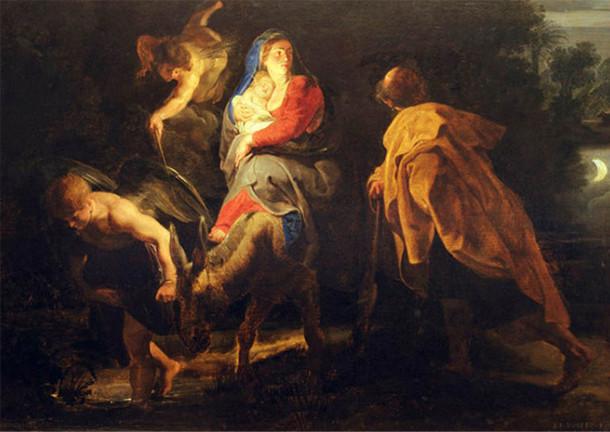 La Fuite en Egypte peint par Rubens