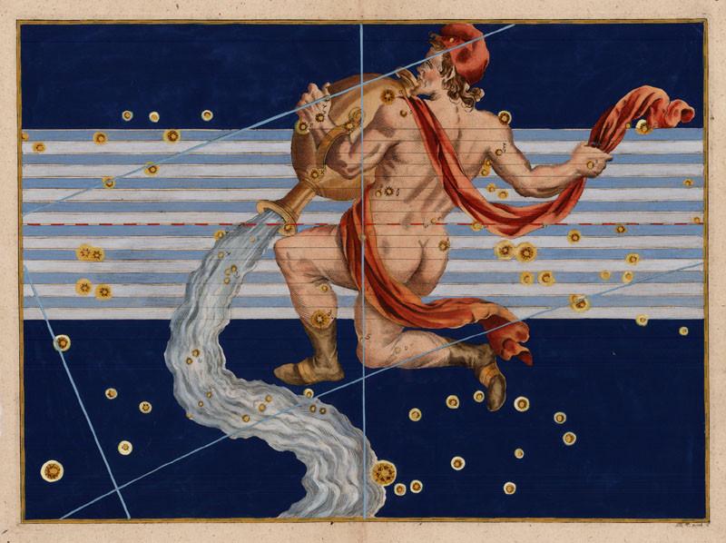 Constellation du Verseau dans l'Uranometria de Bayer (1603)
