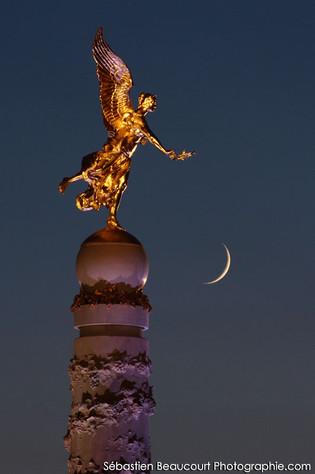 Lune et fontaine Subé