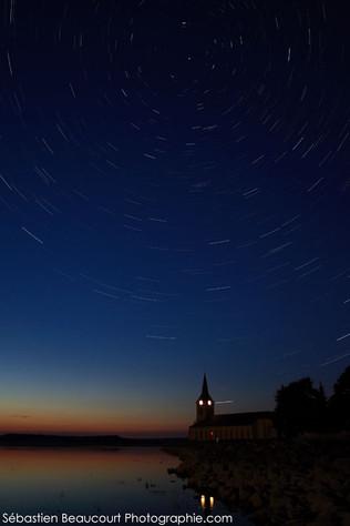 Filé d'étoiles et église de Champaubert