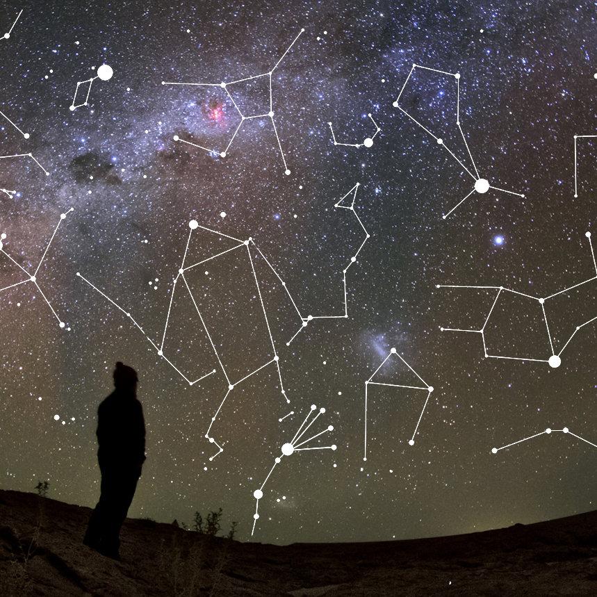 Les constellations du ciel d'hiver