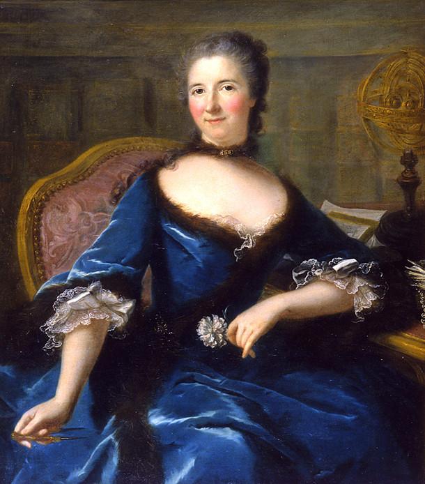 Portrait d'Emilie du Châtelet, par Marianne Loir (1748)