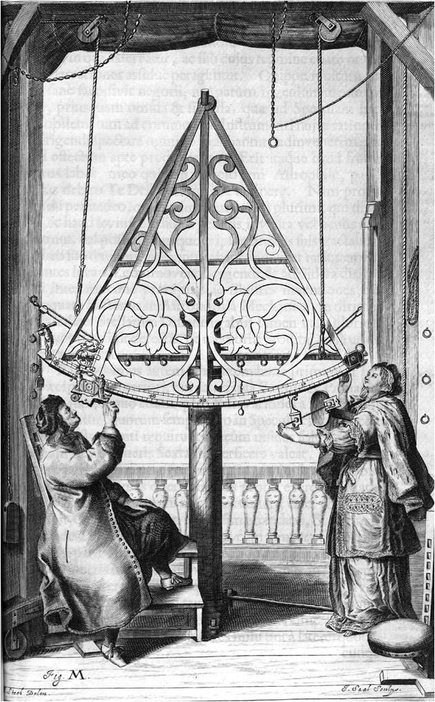 Hevelius observe au sextant
