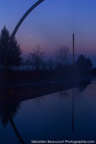 Lune et Sculpture Rinke