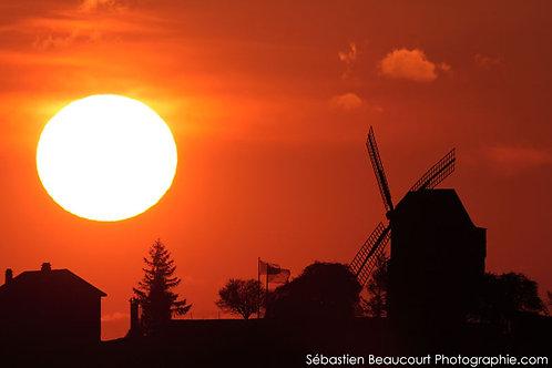 Coucher de Soleil sur le moulin de Verzenay
