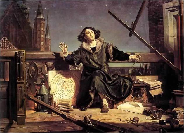 Copernic peint par Matejko en 1873.