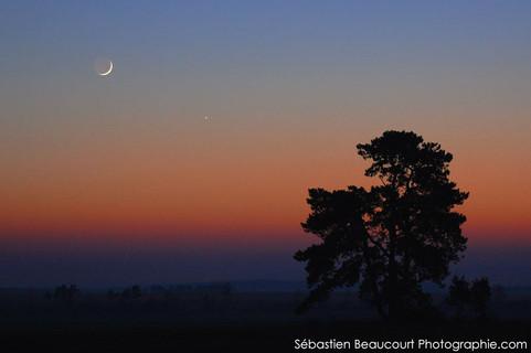 Conjonction Lune Jupiter Mercure