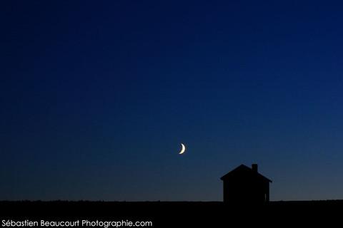 Lune et loge de vignes