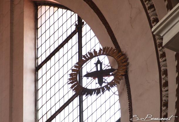 Viseur de l'étoile polaire de la méridienne de l'église Santa Maria degli angeli à Rome