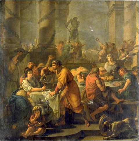 Les Saturnales, peinture d'Antoine François Callet (1753)