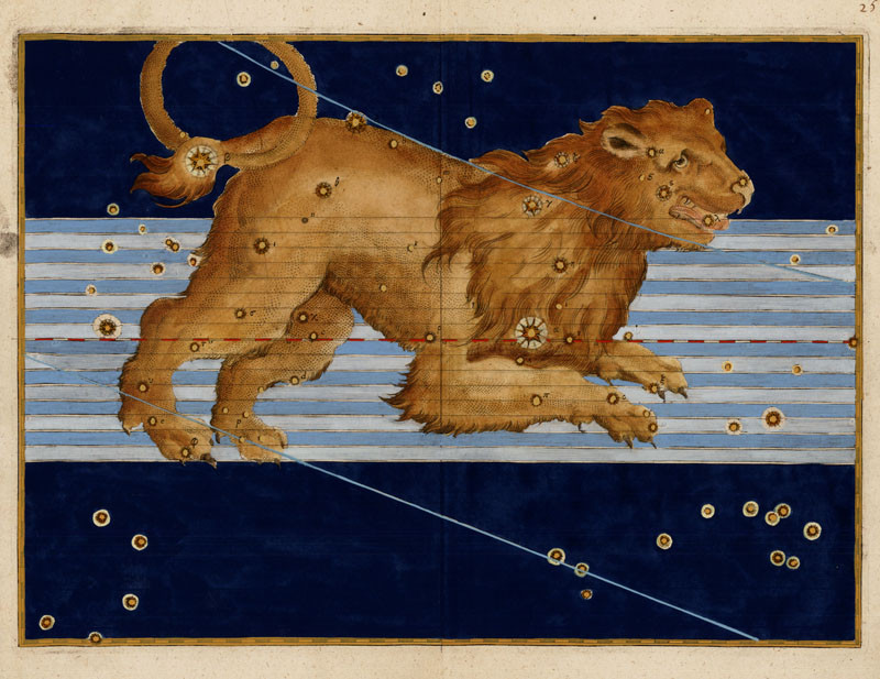 Constellation du Lion dans l'atlas de Bayer (1603)