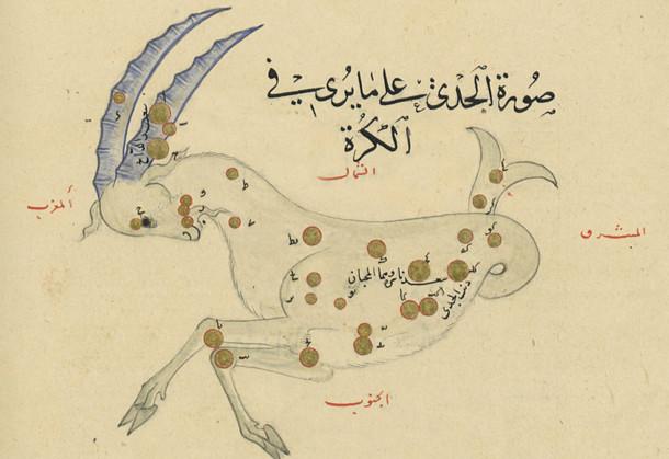 Constellation du Capricorne dans l'atlas d'Al-Sufi (964)