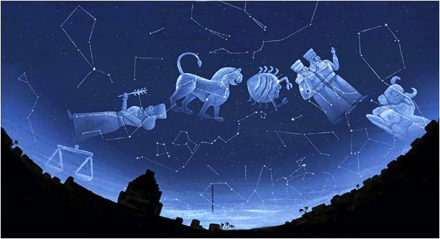 Zodiaque mésopotamien (vue d'artiste).