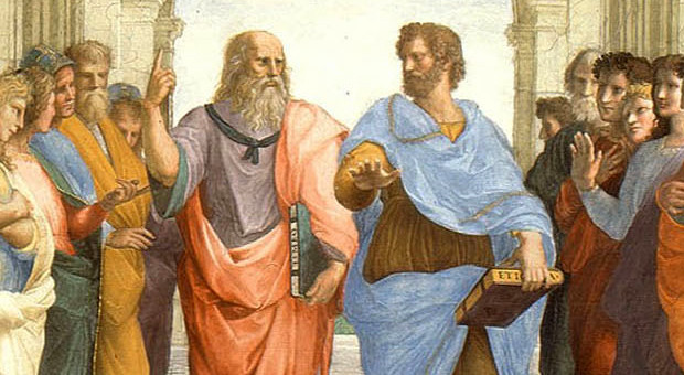 Platon et Aristote (Ecole d'Athène de Raphael)