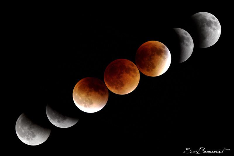 Eclipse totale de Lune photographiée par Sébastien Beaucourt