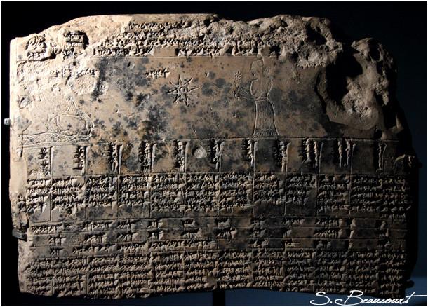 Constellation de la Vierge sur une tablette babylonienne.