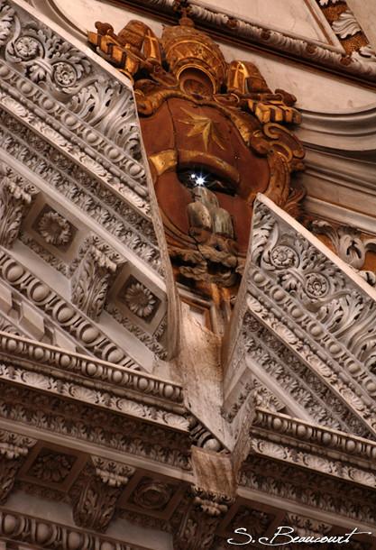 Oeilleton de la méridienne de l'église Santa Maria degli angeli à Rome
