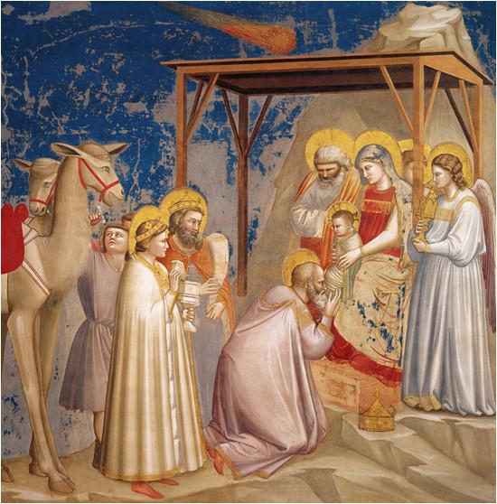 L'Adoration des Mages peitn par Giotto en 1603