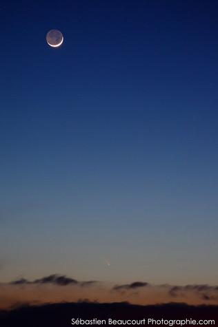 Lune et comète Panstarrs