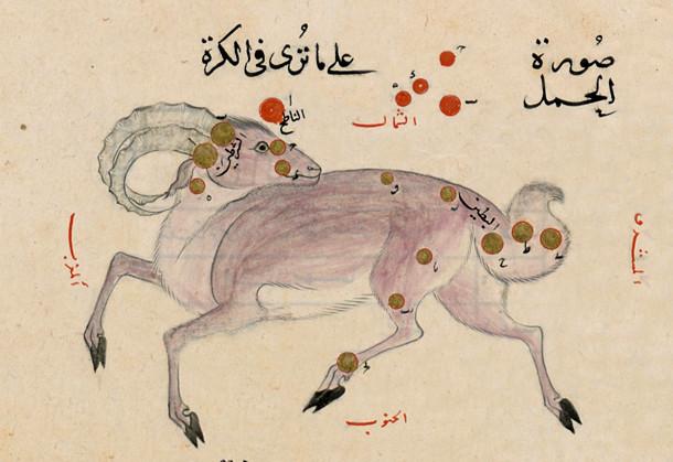 Constellation du Bélier dans l'atlas d'Al-Sufi (964)