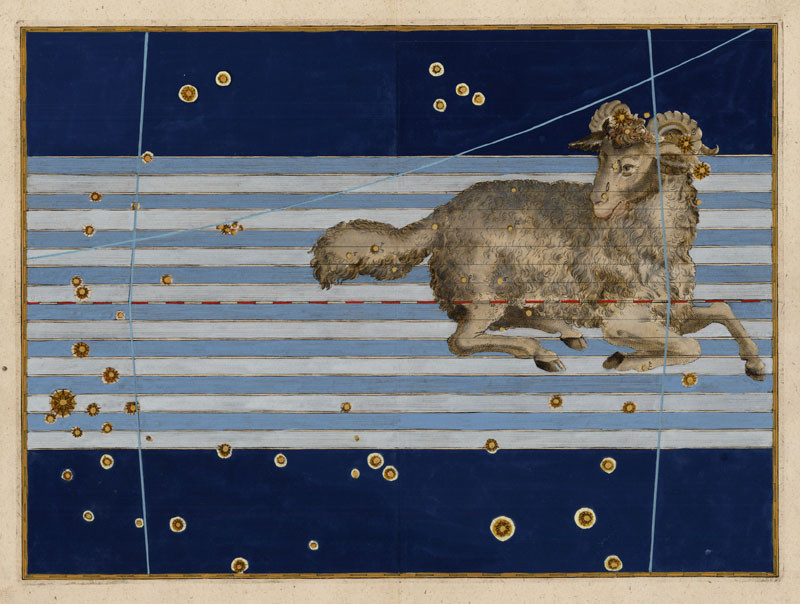 Constellation du Bélier dans l'Uranometria de Bayer (1603)